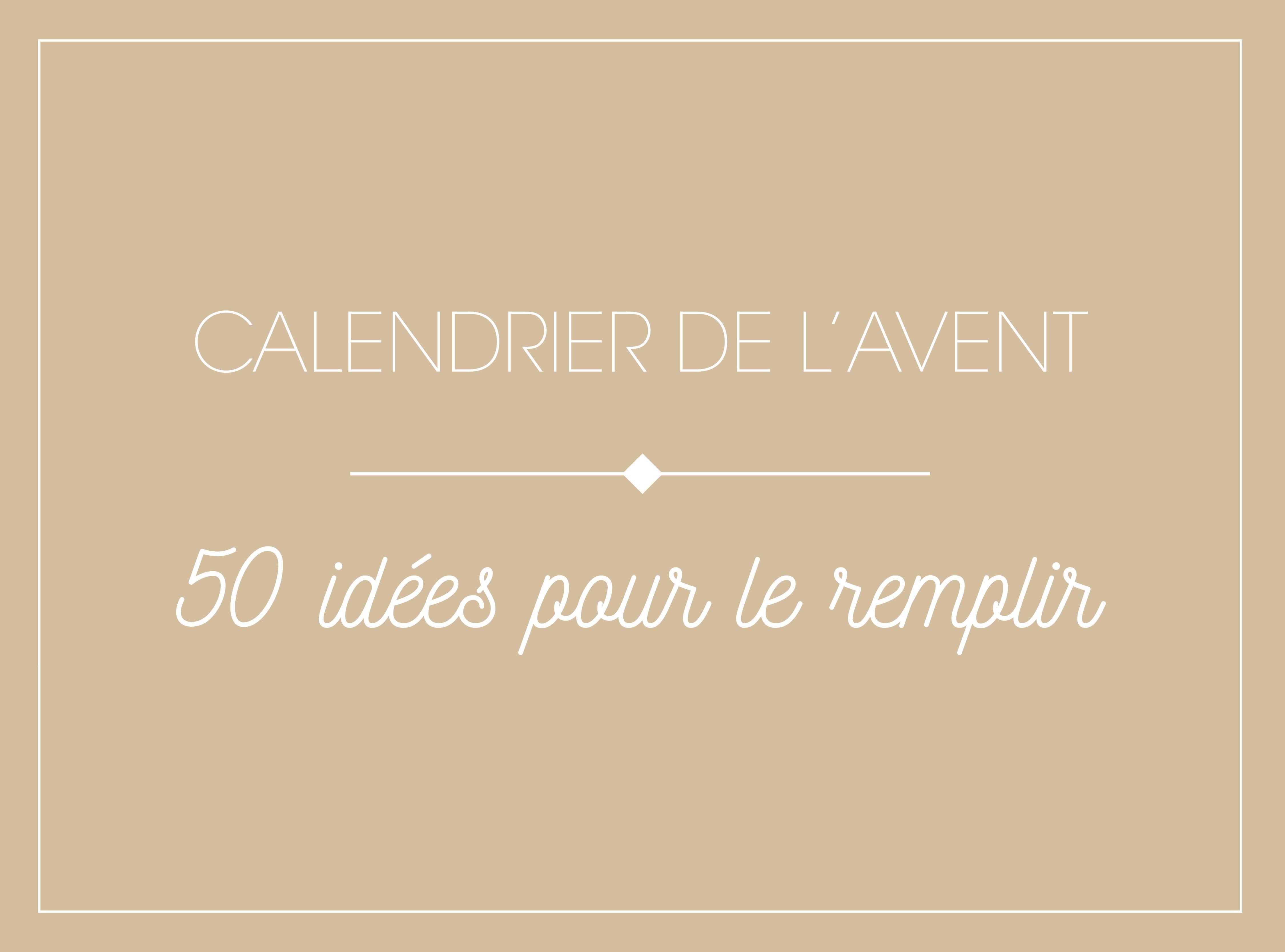 Calendrier de l 39 avent 50 idees 01 madame b - Quoi mettre dans calendrier de l avent ...